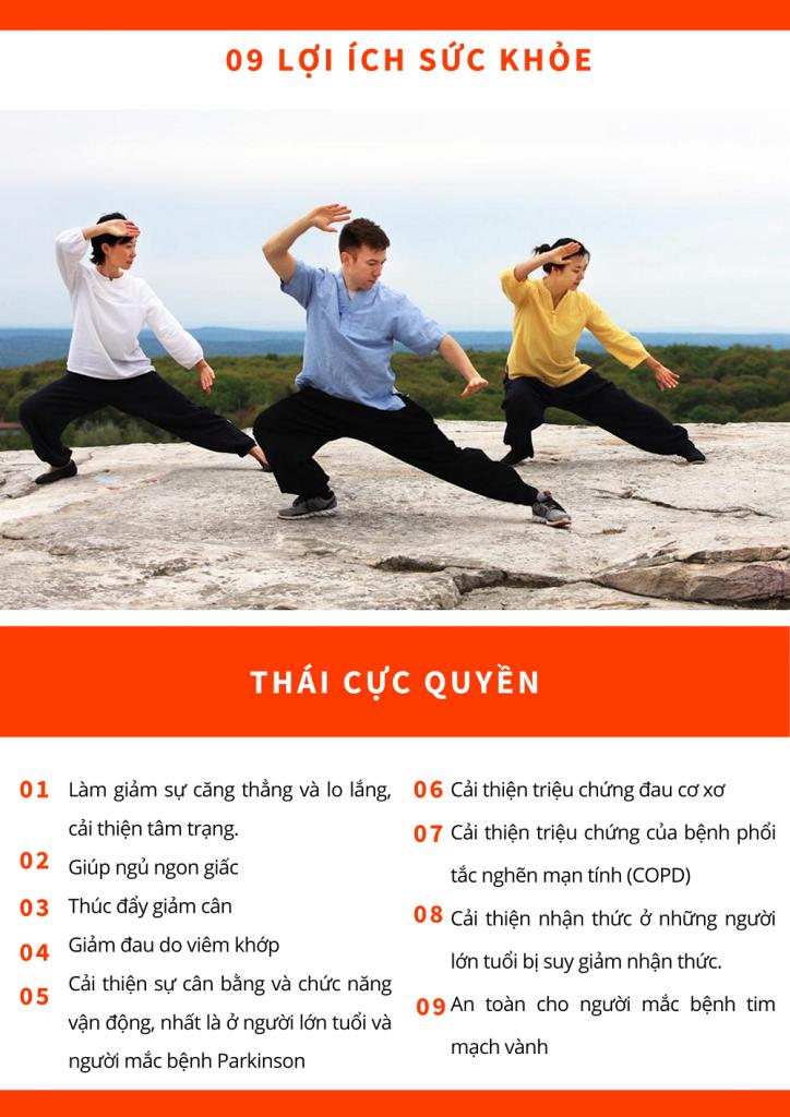 Lợi ích tuyệt vời của Thái cực quyền trong các môn thể dục người cao tuổi