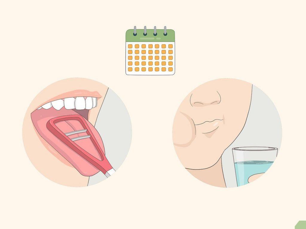 Súc miệng và vệ sinh lưỡi