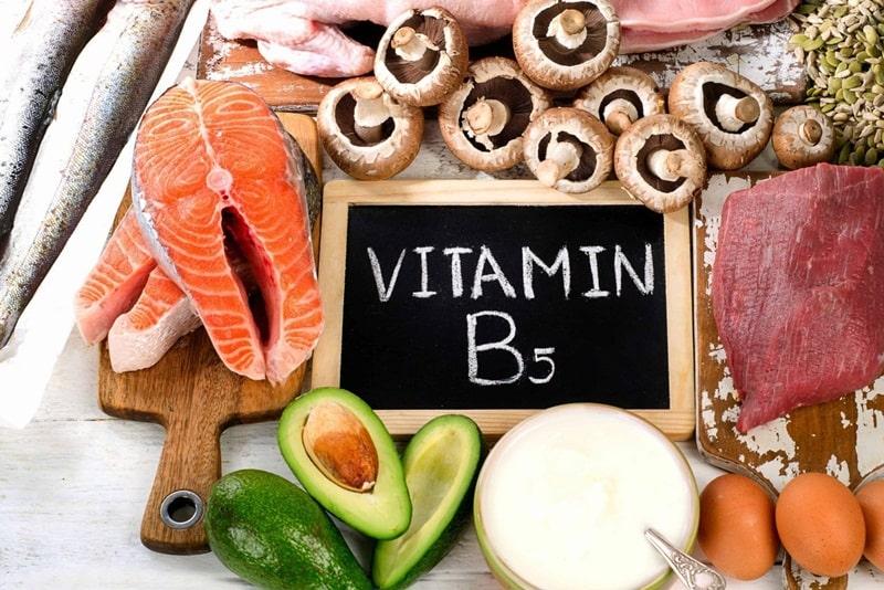 Vitamin B5 trong nhiều loại thực phẩm